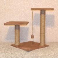 Игровой комплекс когтеточка с двумя лежанками