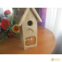 Домик деревяный для попугаев и канареек
