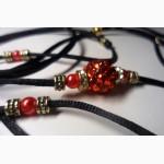 Риноговка черная с красными украшениями со стразами