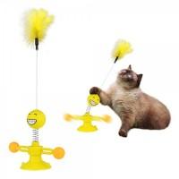 Игрушка для котов petfun пружина на присоске вращающаяся 33 х 17 см