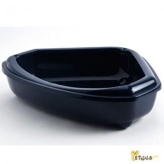Угловой туалет с бортиком для котов Moderna Кози, 55Х45Х14 см