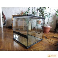 Террариум Exo Terra Glass Terrarium, 45x45x45 см. Б/У.