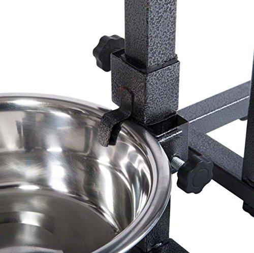 Фото 2. Устойчивая подставка-дуга с двумя мисками (1, 8л) для собак