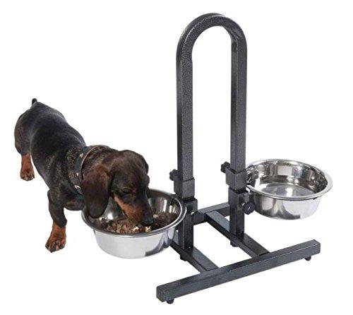 Фото 4. Устойчивая подставка-дуга с двумя мисками (1, 8л) для собак