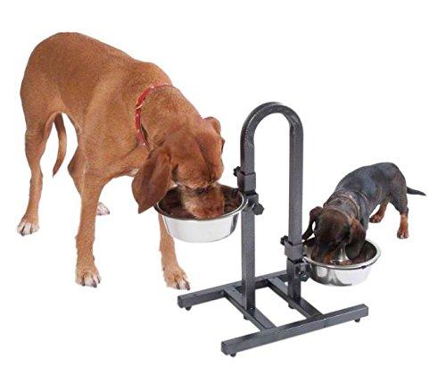 Фото 5. Устойчивая подставка-дуга с двумя мисками (1, 8л) для собак