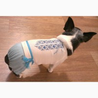Одежда для маленькой собаки.Комбинезон - вышиванка