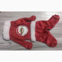 Новогодний костюм для маленькой собаки - комбинезон Санта