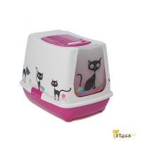 Закрытый туалет для кошек Кот
