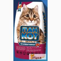 ПАН КОТ Яловичина 10 кг.сухой корм для котов