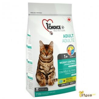 Корм для кошек 1st Choice (Фест Чойс) КОНТРОЛЬ ВЕСА корм для кастрированных котов