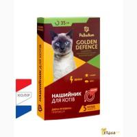 Палладиум ошейник для кошек Golden Defence от блох и клещей 35см