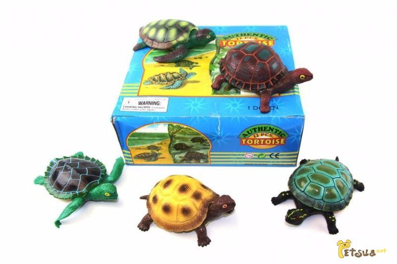 Фото 1/1. Животные черепаха резиновая 24 шт. в коробке