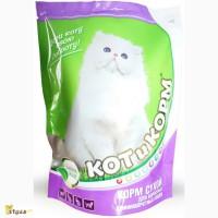 КотИкорм - Сухой Премиум корм для взрослых кошек длинношерстных пород