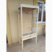 Клетка вольер для мелкой домашней птички попугая, кенора и других на подставке