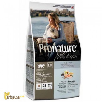 Корм для кошек Pronature Holistic Indoor SkinCoat (лосось/рис)