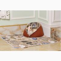 Лежанка м#039; яке місце для собаки та котика, розмір 42*42*35 см