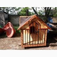 Вольер( В наличии ) деревянный с резьбой для собаки