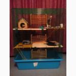 Клетка для хорька, шиншилл, крыс, дегу 80х45х107 см + 4 полки + 2 лестницы