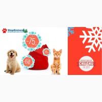 Новогодние акции на корм для собак и корм для кошек