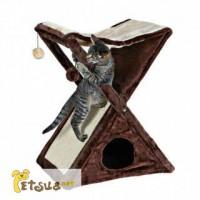 Trixie Miguel Когтеточка для кошек с домиком, гамаком и двумя игрушками