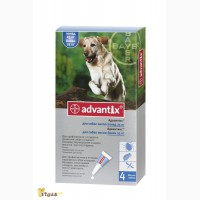 Адвантикс капли для собак от 25кг. Байер. 160грн