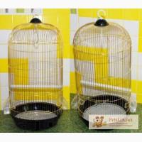Клетка для средних и мелких попугаев, из высококачественных материалов куполообразной формы
