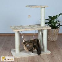 Когтеточки. Trixie Morella Многоуровневая когтеточка для кошек с гамаком бежевый